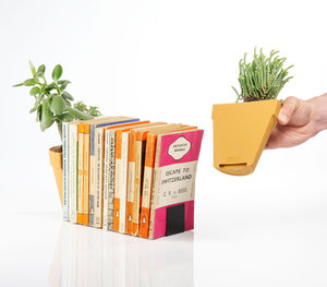 waterproof bookends traditional style plant pot cut in half