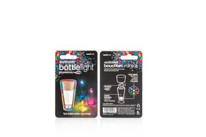 Multi-colour rechargeable Bottle Light packaging.