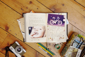 diary with over 1000 pages with space for pictures, notes, and yearly highlights