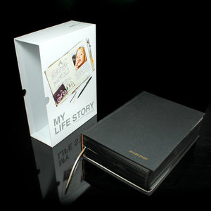black hard cover book to store special memories