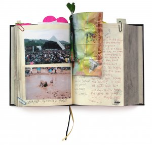 journal with templates for photos