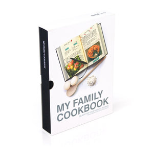 Black My Family Cookbook. Packaged in tough slip case.