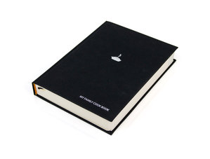 Blank Black Cook Book. Loads of pages for your recipes. Hardback Cover. Cloth Bound. Integral bookmarks.