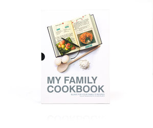 Black My Family Cookbook. Packaged in slip case.