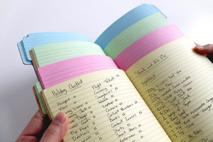 inside of notebook tabbed paper