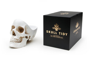 skull office desk tidy packaging