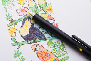 Versatile piece of stationery that can be used for drawing, colouring, scrapbooking, sketching and marking