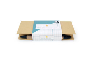 memo pad and ruler set in packaging front view