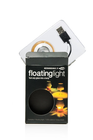 waterproof LED light with floating cork USB charge
