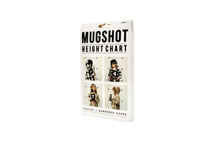 Mugshot height chart packaging from side