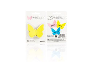 unusual 3D butterfly sticky notes for reminders or wall decorations