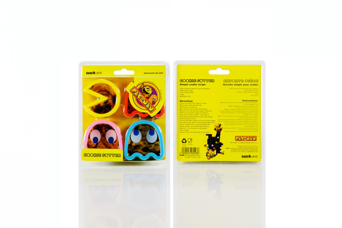 Pac Man Cookie Cutters : 1980s arcade influenced home baking