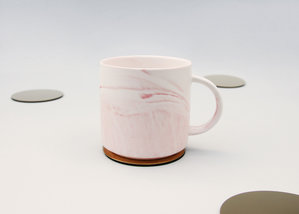 Pink and white mug for the perfect cup of tea