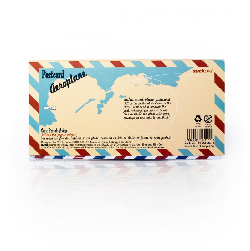 Postcard Aeroplane : Mail A Personalised Retro Plywood Plane