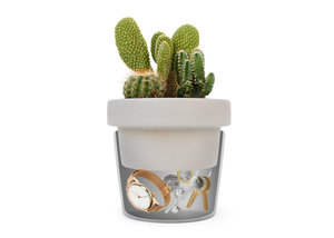 cacti plant pot with a hidden comparment