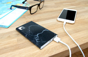 Black faux marble power bank great Xmas stocking filler gift