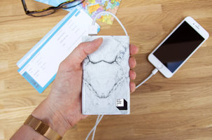 Novelty marble look power bank secret santa for work-mates gifts