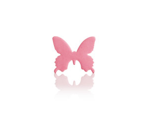 pink butterfly shaped sticky notes
