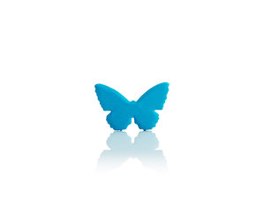 blue original 3d butterfly notes for decorations
