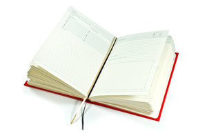 Blank Red Cook Book. Loads of pages for your recipes.