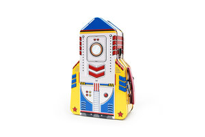 Rocket lunchbox on white background
