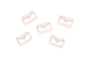 Rose gold envelope paper clips