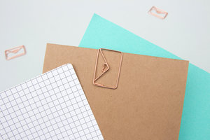 Fun gold envelope paper clips, cool stationery