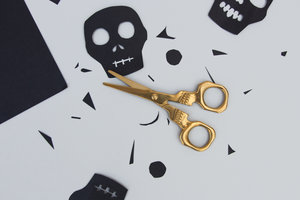 Classic Halloween themed scissors for cutting decorations