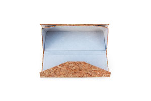 Cork glasses case open
