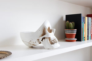 skull organiser for stationery and other items