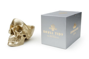 skull stationery holder with black box