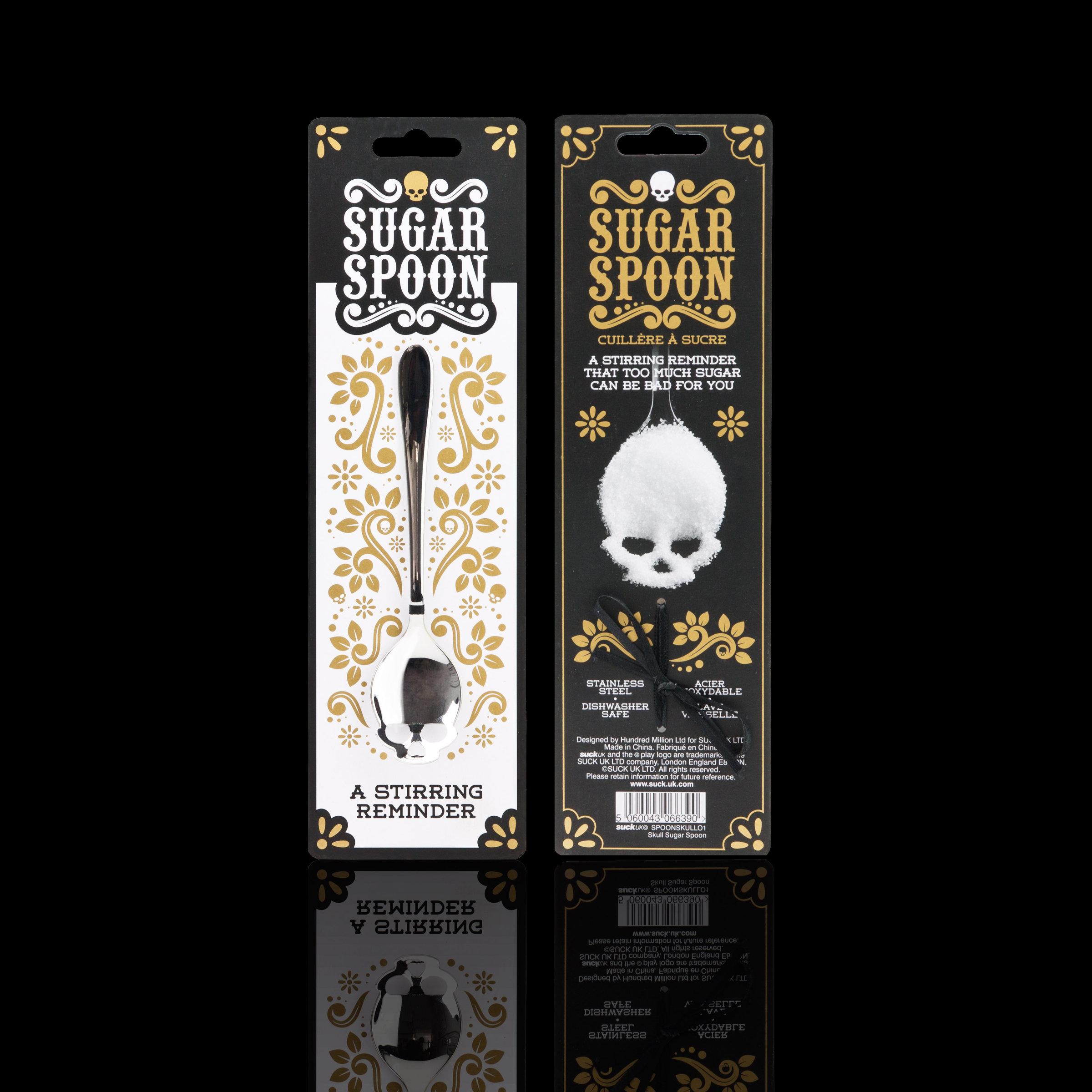 SUCK UK Sugar Skull Tea Spoon Gold