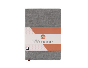 Slate grey linen covered notebook