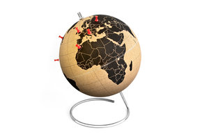 small cork globe for travellers