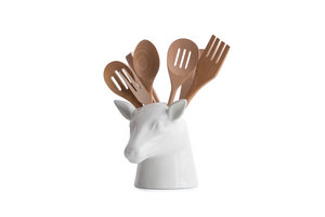 Animal shaped spatula holder for countryside house