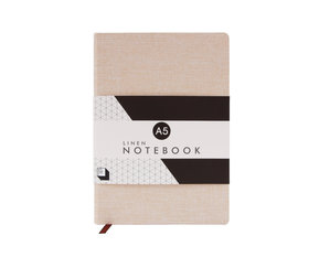 Stone pink linen covered notebook