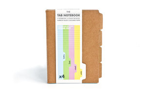 front view of tabbed notebook