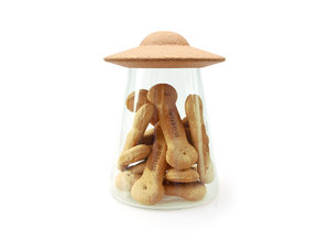 UFO glass jar for pet treats