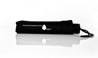 Black folding compact umbrella - simple and clever design.