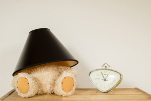 Teddy Lamp and Clock