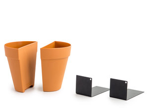 metal L-plates planter bookend and plant holder vase