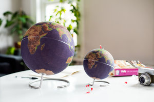 globes made of cork