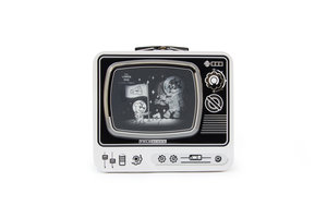 White TV Lunchbox on white background