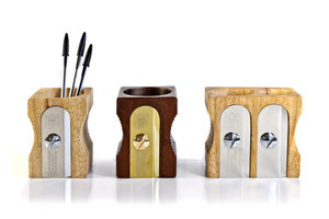 wooden sharpener desk tidy