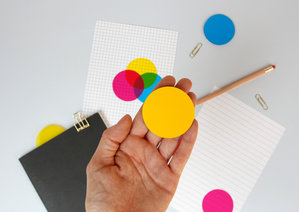 CMYK Novelty transparent round post-it notes