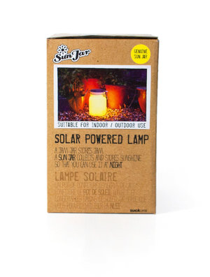 yellow solar powered lamp box