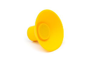 yellow silicon icon speaker with bluetooth